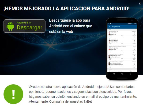 Requisitos para instalar la aplicación en Android