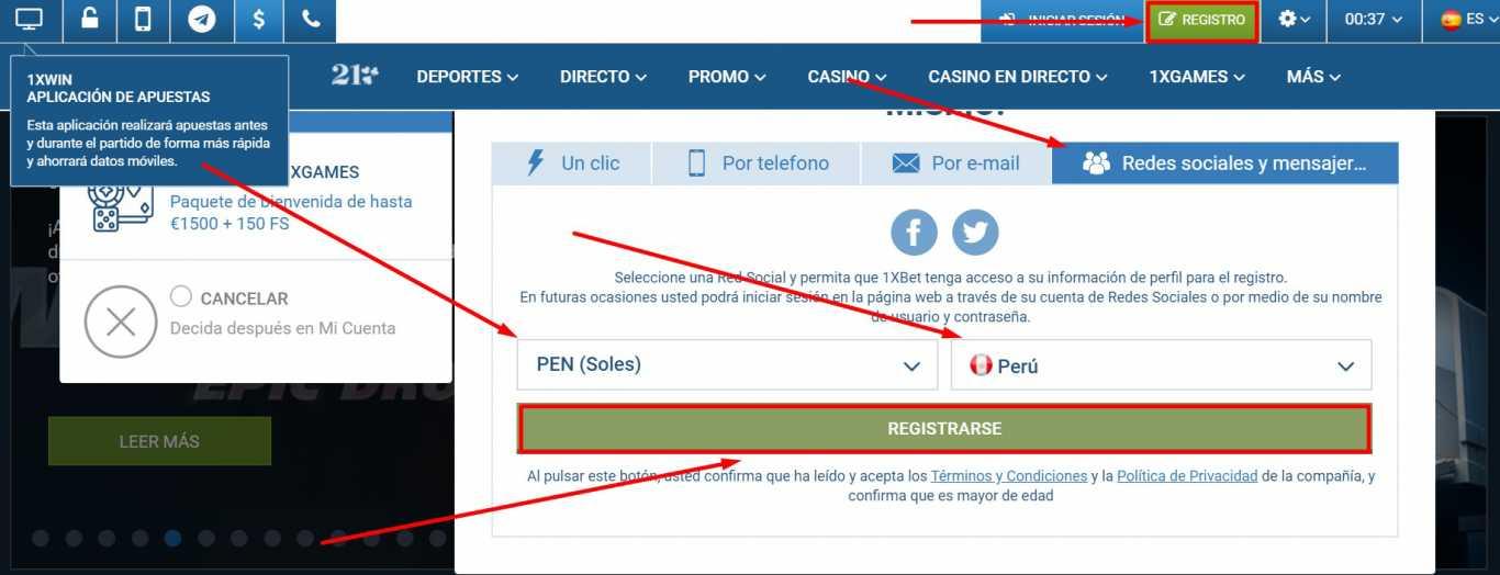 1xBet España register. ¿Cómo funciona y como hacer una apuesta